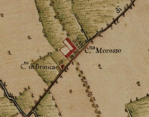 Cascina Morozzo. Carta Topografica della Caccia, 1760-1766. © Archivio di Stato di Torino.