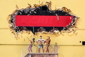 Autore non identificato, particolare di murale senza titolo, via Garelli. Fotografia di Roberto Cortese, 2017 © Archivio Storico della Città di Torino