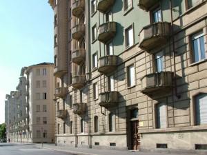 Gruppo di edifici tra via Giacomo Medici, piazza Bernini e corso Francia. Lato via Giacomo Medici. Fotografia di Paola Boccalatte, 2013. © MuseoTorino