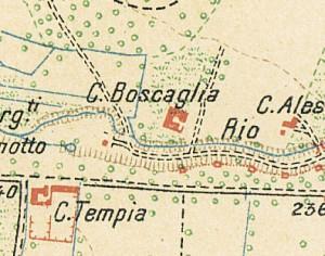 Cascina Canonico. Pianta di Torino e dintorni, 1911. © Archivio Storico della Città di Torino
