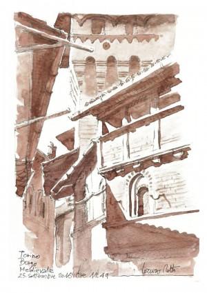 Lorenzo Dotti, Torino, Borgo Medievale, 25 settembre 2016, ore 11,49, acquerello