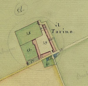 Cascina Il Tarino. Catasto Gatti, 1820-1830. © Archivio Storico della Città di Torino