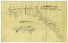 PLANIMETRIA CANALE DELLA CERONDA RAMO SINISTRO DAL PARTITORE DI LUCENTO AL TORRENTE DORA (linea rossa) / (linea gialla) TRATTO DAL CANALE CERONDA SOPPRESSO IN SEGUITO AL DEVIAMENTO, 1931-1940. © Archivio Storico della Città di Torino