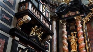Decorazione marmorea all'interno della chiesa del Corpus Domini. Fotografia di Paolo Mussat Sartor e Paolo Pellion di Persano, 2010. © MuseoTorino