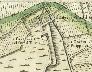 Cascina Cavaliera. Amedeo Grossi, Carta Corografica dimostrativa del territorio della Città di Torino, 1791. © Archivio Storico della Città di Torino