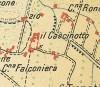 Cascinotto di strada del cascinotto. Istituto Geografico Militare, Pianta di Torino e dintorni, 1911, © Archivio Storico della Città di Torino