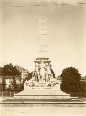 Luigi Belli, Monumento alla spedizione di Crimea, 1888. Fotografia di Mario Gabinio, 27 luglio 1924. © Fondazione Torino Musei - Archivio fotografico.