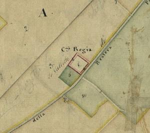 Cascina Le Vallette. Catasto Gatti, 1820-1830. © Archivio Storico della Città di Torino