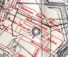 Localizzazione dei resti del Pozzo Grande della Cittadella. Da MAGNI 1910, particolare della tavola.