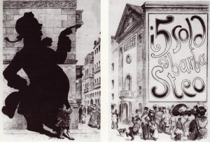 Dalsani, Teatro d'Angennes, caricatura, 1898.