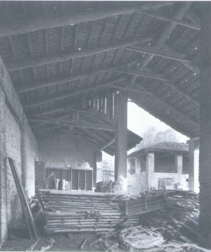 Foto storica del fienile della cascina Antiochia. © EUT 6.