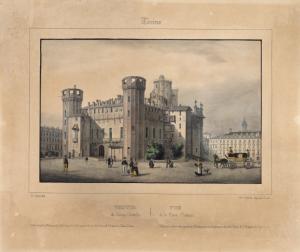 Torino. Palazzo Madama dal lato di via Po, 1852