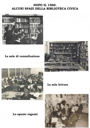 Alcuni spazi della Biblioteca civica, post 1960, pannello 9 in mostra © Biblioteche civiche torinesi