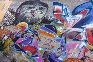 BOC crew, senza titolo, particolare del murale 2013, via Trecate. Fotografia di Roberto Cortese, 2017 © Archivio Storico della Città di Torino