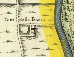 Cascina Tetti Basse di Dora. Amedeo Grossi, Carta Corografica dimostrativa del territorio della Città di Torino, 1791, © Archivio Storico della Città di Torino