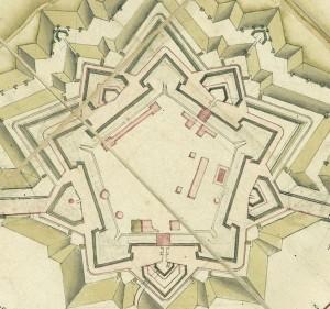 Cittadella, 1800. Lombardi Laurent, [Pianta di Torino], particolare. © Archivio Storico della Città