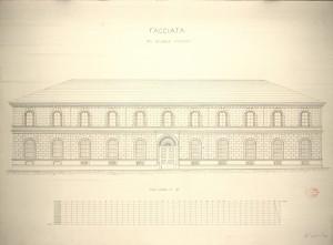 Facciata del Collegio Monviso, 1865