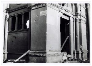 Chiesa di San Gioacchino, Corso Giulio Cesare angolo Via Vittorio Amedeo Cignaroli 3. Effetti prodotti dai bombardamenti dell'incursione aerea dell'8-9 dicembre 1942. UPA 2761_9C06-17. © Archivio Storico della Città di Torino