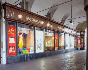 Mc Donald's, paninoteca; ex ditta Perotti e Nigra, tessuti