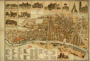 Nuova pianta di Torino, 1898. Biblioteca civica centrale, Cartografico  3/4.11.01 © Biblioteche civiche torinesi