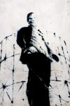 Gianluca Rosso, particolare di murale senza titolo, 2000, via Locana 20, MAU Museo Arte Urbana. Fotografia di Roberto Cortese, 2017 © Archivio Storico della Città di Torino