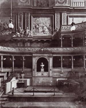 Torino, Palazzo Madama, aula del Senato, vista del lato sud, 1902-1910. © Soprintendenza per i Beni Architettonici e Paesaggistici per le Province di Torino, Asti, Cuneo, Biella, Vercelli.