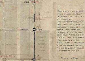 Tratto di cinta muraria in piazza Carignano