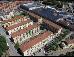 Veduta aerea del Quartiere M1. Fotografia di Michele D'Ottavio, 2011. © MuseoTorino