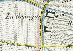 Cascina Grangia Scott. Topografia della Città e Territorio di Torino, 1840, © Archivio Storico della Città di Torino