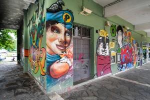 Associazione Artefatti,  murale senza titolo, 2006, piazza Pollarolo. Fotografia di Roberto Cortese, 2017 © Archivio Storico della Città di Torino