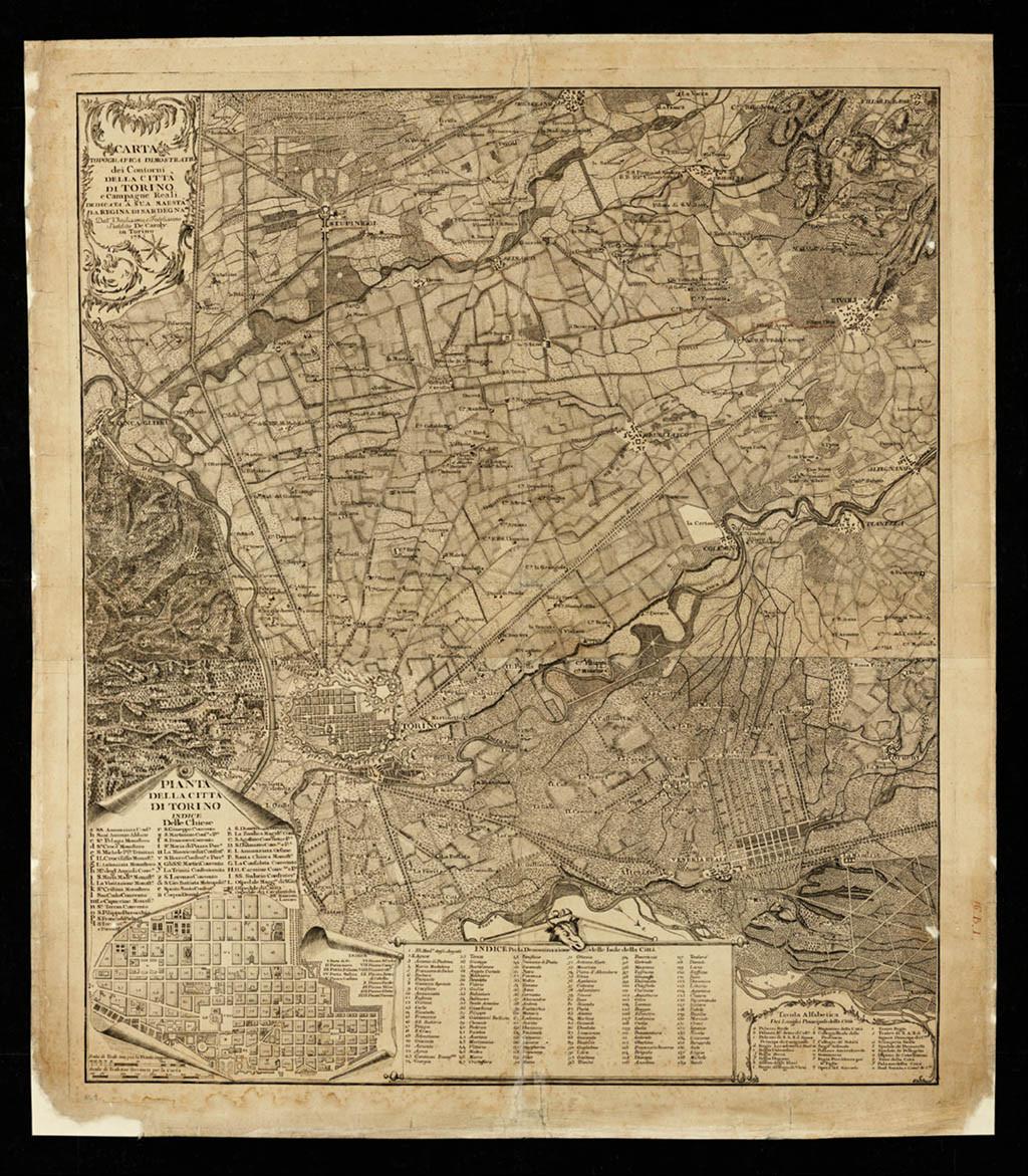 Cartina Militare Piemonte.Carta Topografica Dimostrativa De Caroly 1785 Museotorino