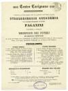 Teatro Carignano, programma del 9 giugno 1857. © Archivio Storico della Città di Torino