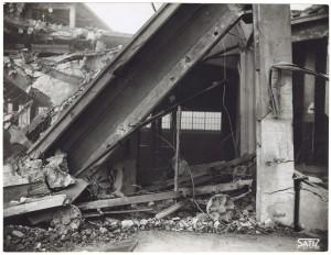 FIAT Lingotto Via Nizza. Effetti prodotti dai bombardamenti dell'incursione aerea dell'8-9 dicembre 1942. UPA 2846_9D02-09. © Archivio Storico della Città di Torino