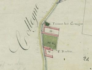 Cascina Berlia. Mappa primitiva Napoleonica, 1805.  © Archivio Storico della Città di Torino