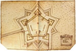 Michel Angelo Morello, Rilievo della Cittadella, fine sec. XVII (Istituto Storico e di Cultura dell'Arma del Genio di Roma).