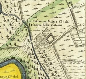Cascina Saffarona. Amedeo Grossi, Carta Corografica dimostrativa del territorio della Città di Torino, 1791. © Archivio Storico della Città di Torino