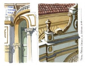 Lorenzo Dotti, Torino. Palazzo Lascaris, 22 febbraio 2019, acquerello