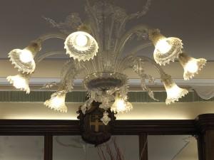 Stratta Confetteria, particolare del lampadario, 2016 © Archivio Storico della Città di Torino