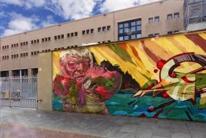 Hide e altri, muro di cinta del Politecnico, 2011. Fotografia di Roberto Cortese, 2017 © Archivio Storico della Città di Torino