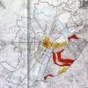Le tracce anulari delle cinte daziarie nella Torino odierna (segnate in rosso). Immagine tratta da Dipartimento Casa-Città, Beni culturali ambientali nel comune di Torino, Società degli ingegneri e degli architetti (SIAT), Torino 1984, pp. 674-675.