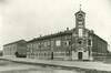 L'Oratorio Michele Rua, la chiesa e a sinistra la scuola nel 1949. © Archivio Oratorio Michele Rua.