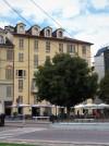 Angolo tra via des Ambrois e piazza Carlina (Carlo Emanuele II), ex ghetto ebraico. Fotografia di Alessandro Vivanti, 2017