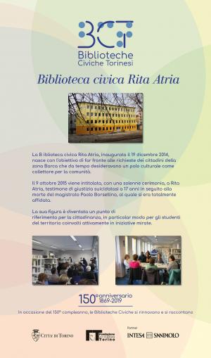 1869-2019. Biblioteca civica Rita Atria