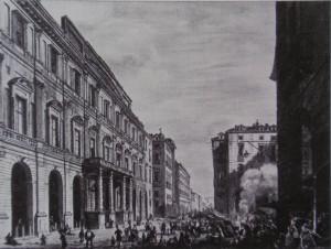 Palazzo di Città. Litografia di D. Festa, 1834. © Archivio Storico della Città di Torino