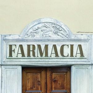 Farmacia Collegiata Ferrero, dettaglio esterno, Fotografia di Marco Corongi, 2005 ©Politecnico di Torino