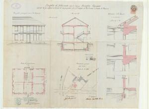Il progetto della casa, ex caserma guardie Lucento 1897. © Archivio Storico della Città di Torino