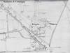 Particolare della planimetria del territorio fuori cinta nel 1892 con in evidenza la strada provinciale di Lanzo nel tratto della futura via Giachino. © Archivio Storico della Città di Torino