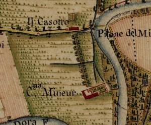 Cascina Mineur. Carta Topografica della Caccia, 1760-1766 circa, ©Archivio di Stato di Torino