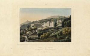 Veduta di Villa della Regina, litografia. © Archivio Storico della Città di Torino