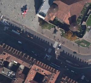 Mura della città romana in piazza Castello